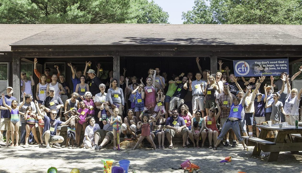 CFI MI Secular Summer Retreat Group Picture - Hands 2012